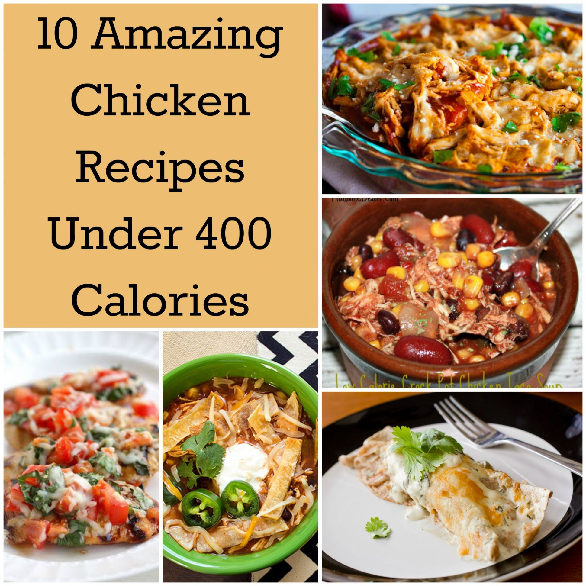 10 Amazing Chicken Recipes Under 10 Calories | How Does She - Recipes Dinner Under 400 Calories