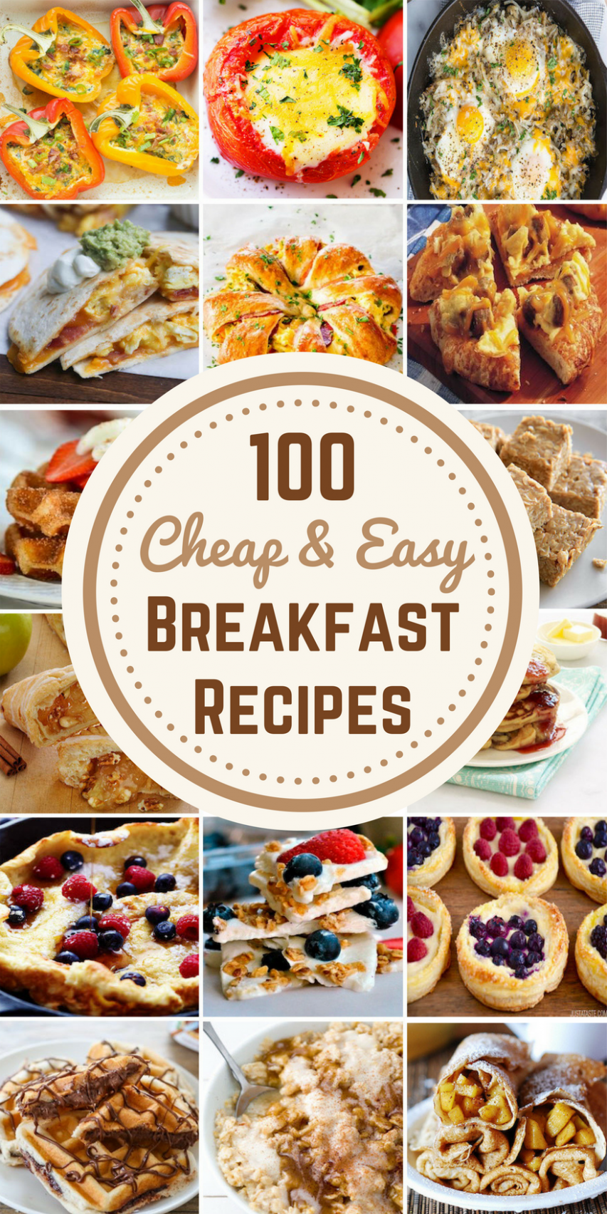 10 Cheap & Easy Breakfast Recipes - Prudent Penny Pincher - Breakfast Recipes Cheap