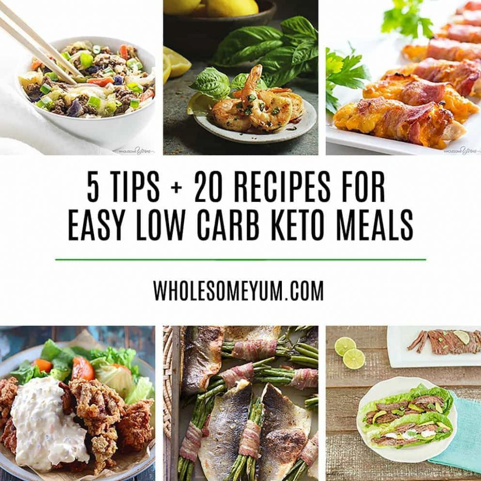10 Delicious Easy Low Carb Keto Meals - Recipes, Ideas & Tips - Keto Recipes Dinner Quick