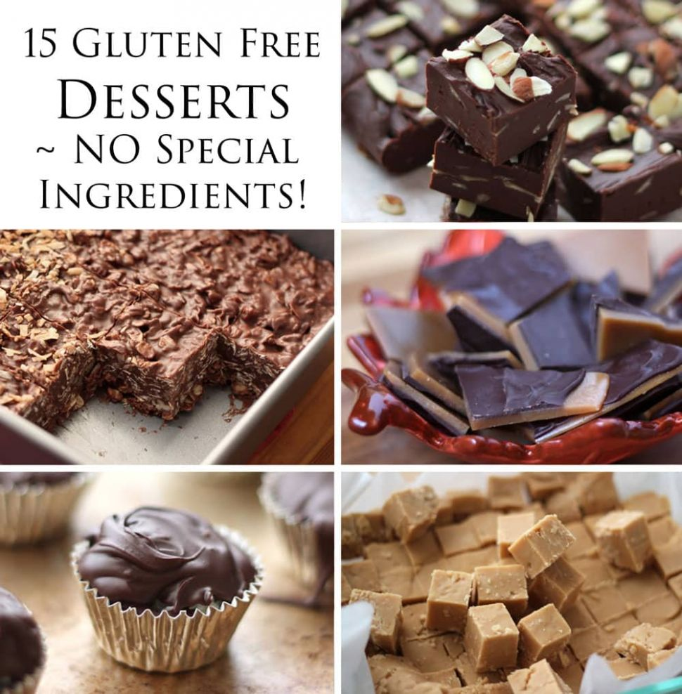 10 Delicious Gluten Free Desserts - NO special ingredients ..