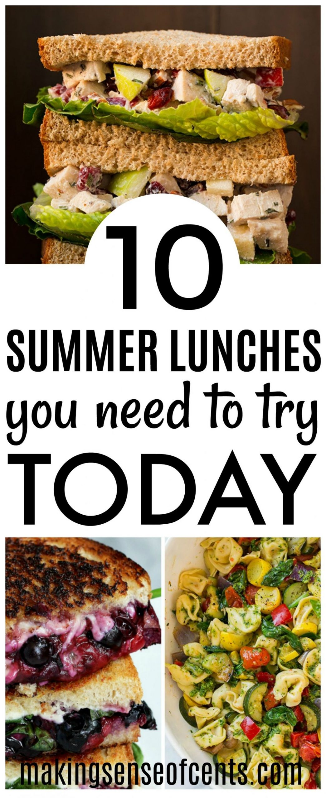 10 Delicious Summer Lunch Ideas - Summer Meals You Need To Make! - Summer Recipes On A Budget