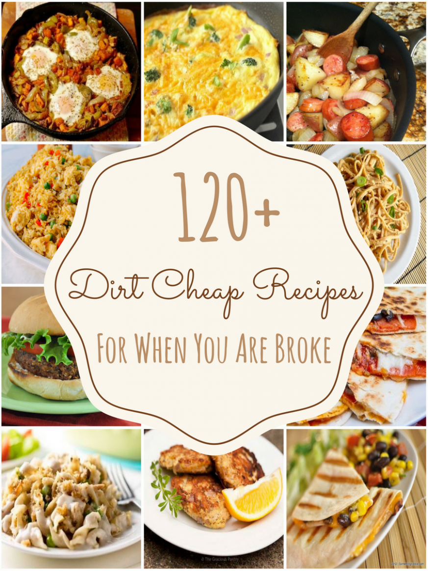 10 Dirt Cheap Recipes for When You Are Really Broke | Cheap easy ..