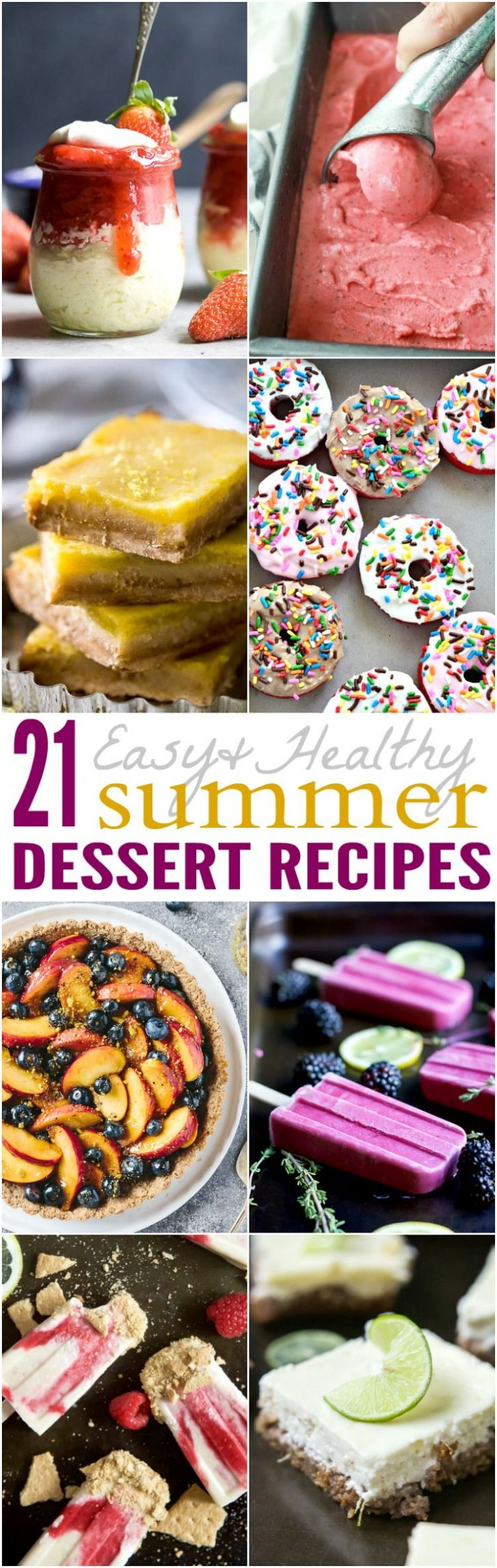 10 Easy & Healthy Summer Dessert Recipes | Summer dessert recipes ..