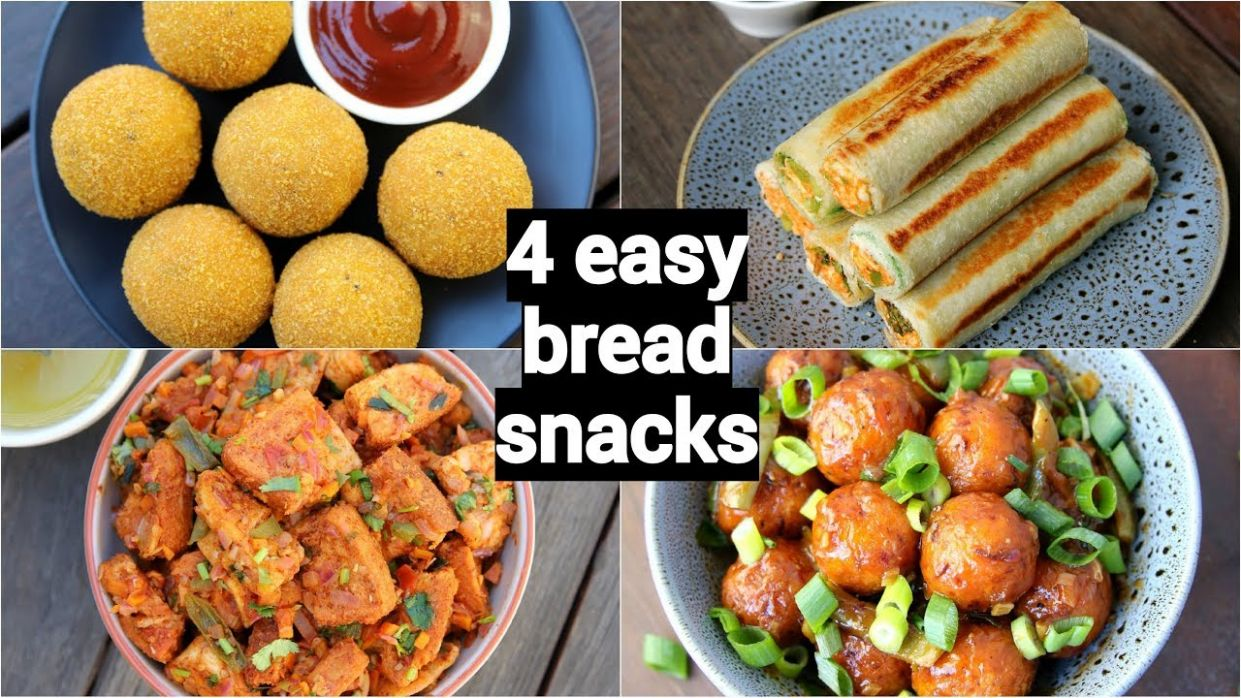 10 easy & quick bread snacks recipes | quick evening snacks with leftover  bread - Simple Recipes Using Bread
