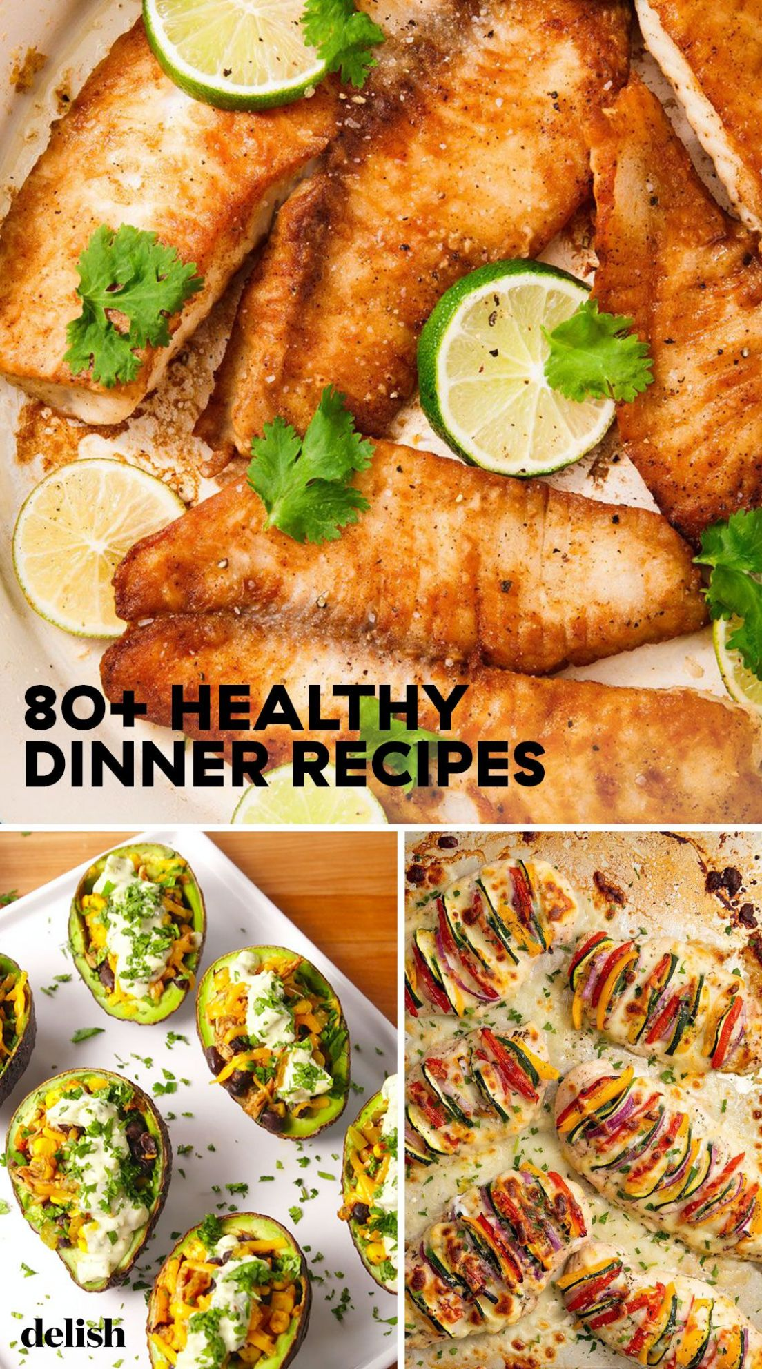 10+ Easy Healthy Dinner Ideas - Best Recipes for Healthy Dinners - Healthy Recipes Easy Lunch