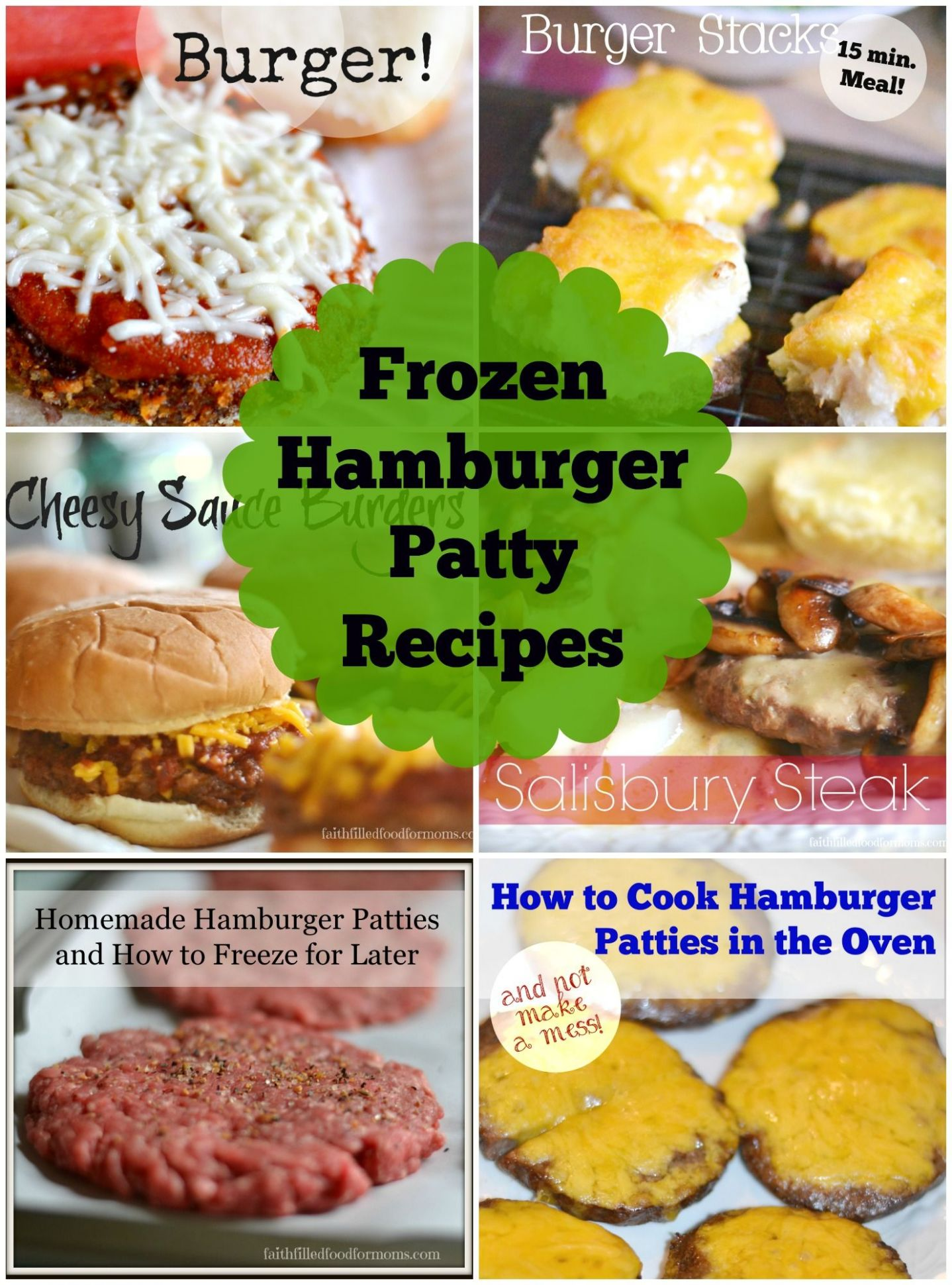 10 Easy Meals Using Frozen Hamburger Patties | Hamburger patties ...