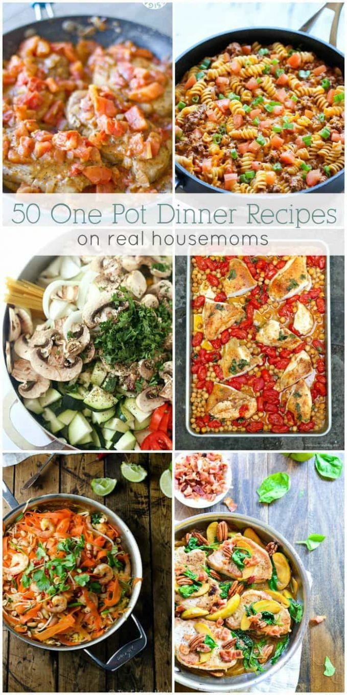 10 Easy One Pot Dinners ⋆ Real Housemoms - Recipes Dinner For One