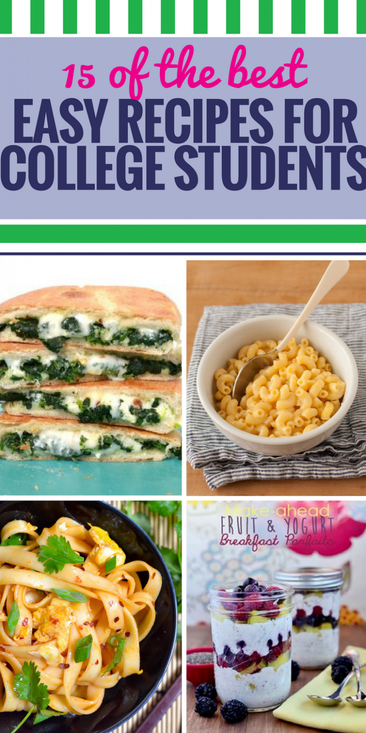 10 Easy Recipes for College Students - My Life and Kids