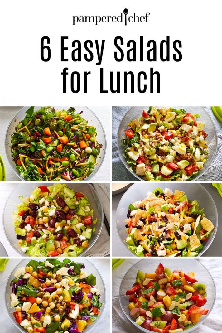 10 Easy Salads for Lunch | Chef salad recipes, Easy salad recipes ..