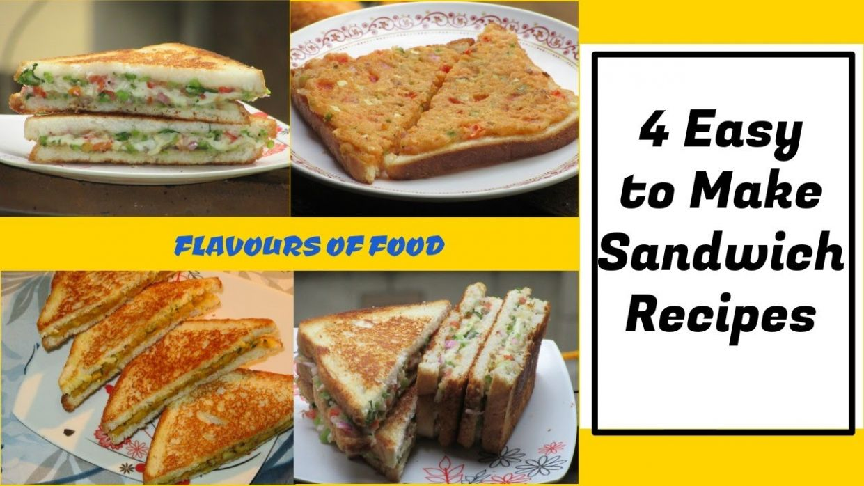 10 Easy Sandwich Recipes | Quick & Tasty sandwich recipes- Breakfast recipe