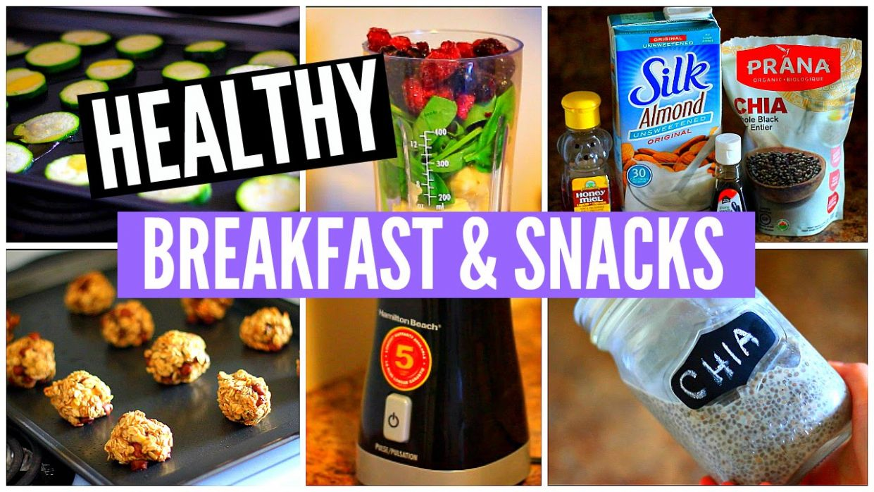 10 HEALTHY Breakfast Recipes & Snack Ideas! - Healthy Recipes Youtube Channel