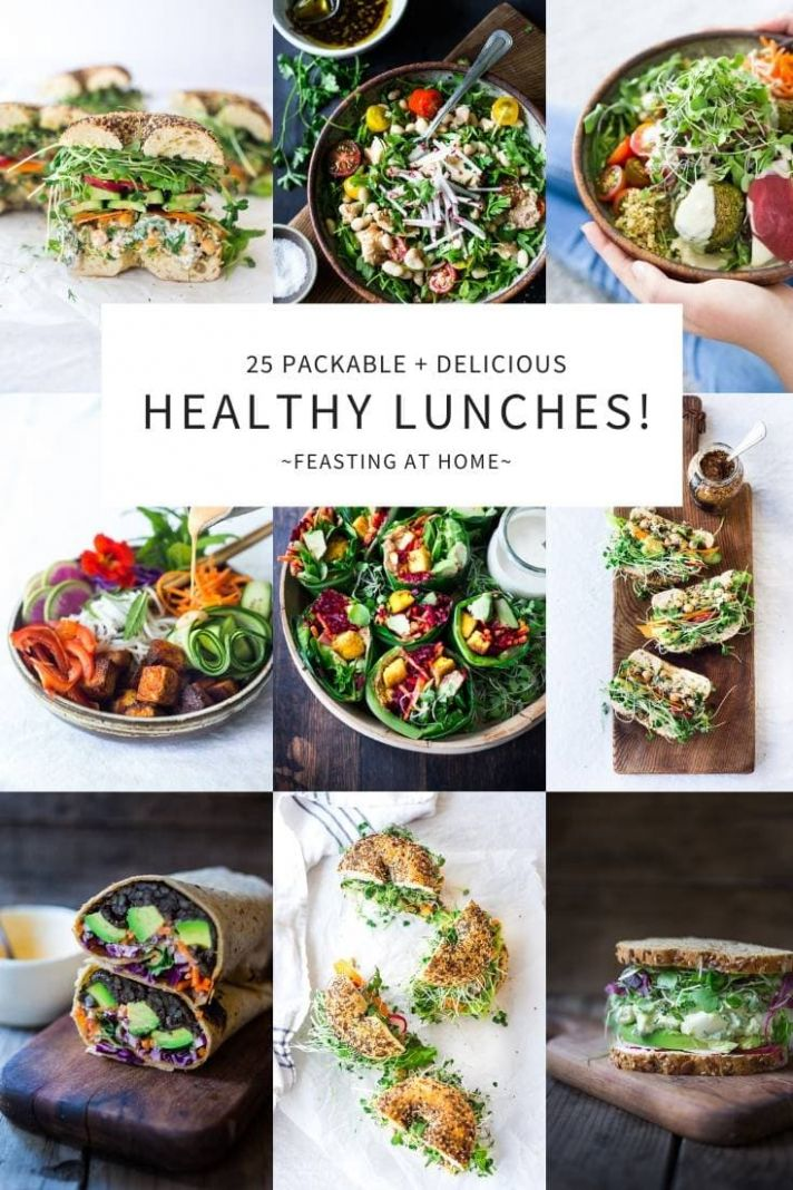 10 Healthy Delicious Lunches! | Feasting At Home - Easy Recipes To Make At Home