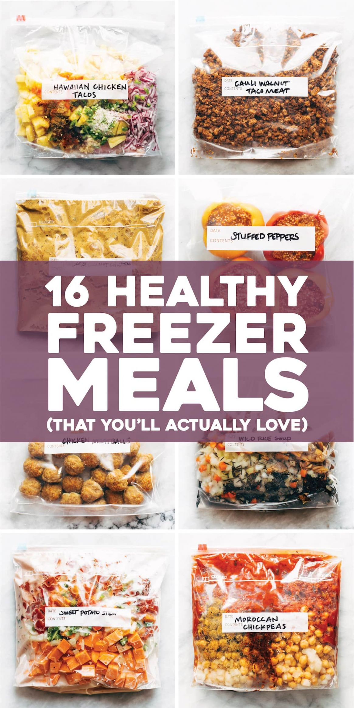 10 Healthy Freezer Meals (That You'll Actually Love) - Pinch of Yum