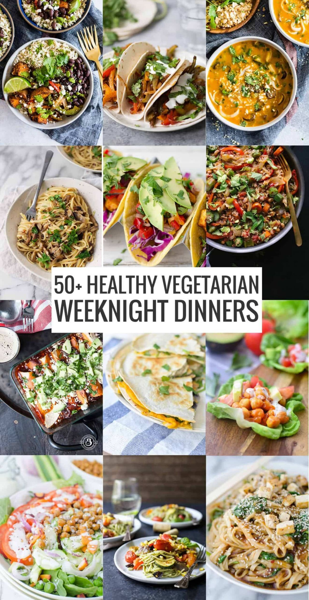 10+ Healthy Vegetarian Meals - Delish Knowledge - Dinner Recipes Healthy Vegetarian