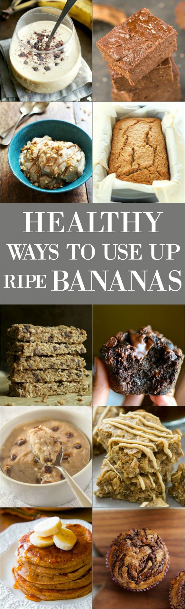 10 Healthy Ways to Use Up Those Ripe Bananas | running with spoons