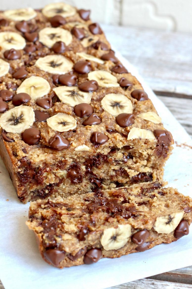 10-Ingredient Flourless Chocolate Chip Banana Bread - Recipes Chocolate Banana Bread
