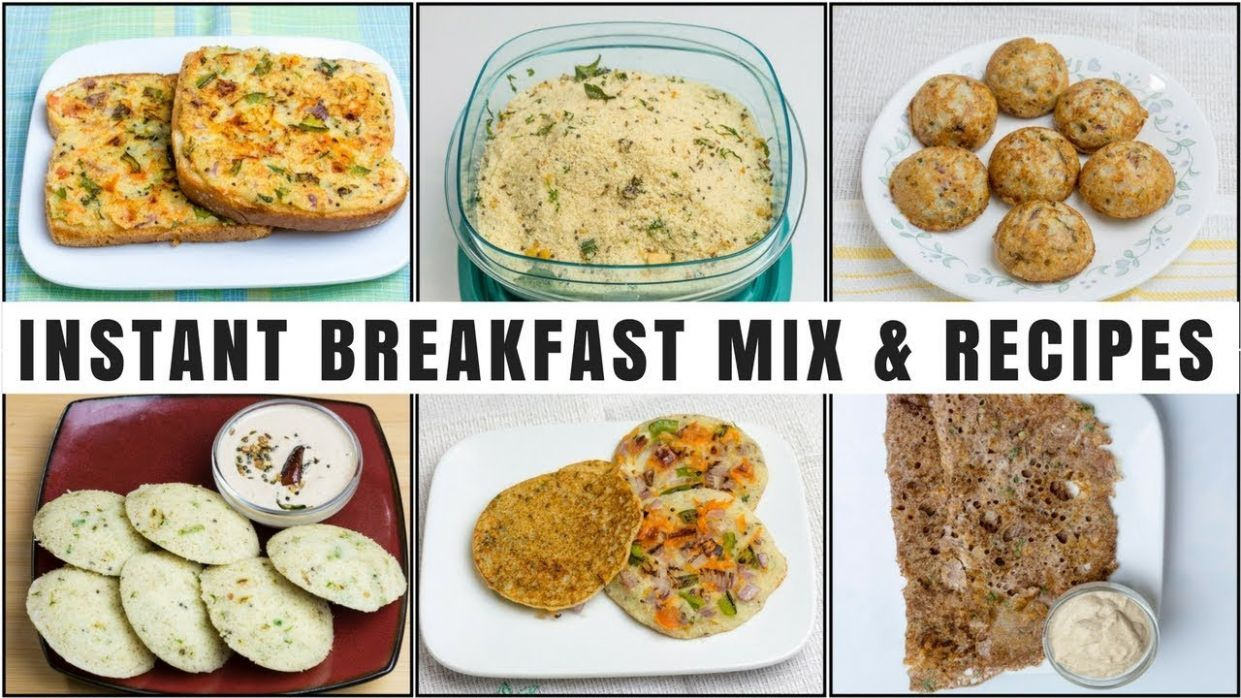 10 Instant Breakfast Recipes | 10 Minute Breakfast | Homemade Instant  Breakfast Mixes