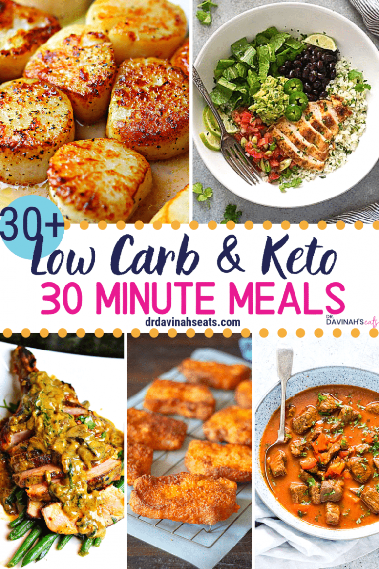 10+ Low Carb & Keto 10 Minute Meals | Dr. Davinah's Eats