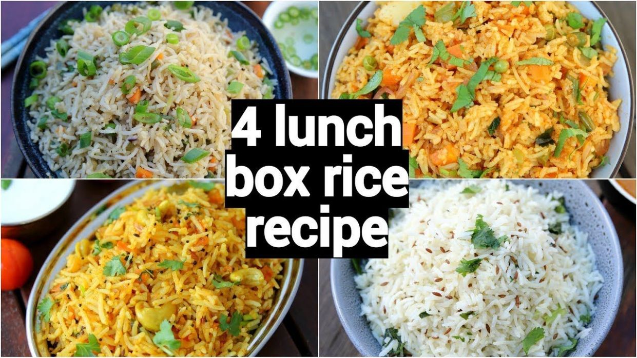 10 lunch box rice recipes | 10 easy & instant rice recipes | tiffin ..