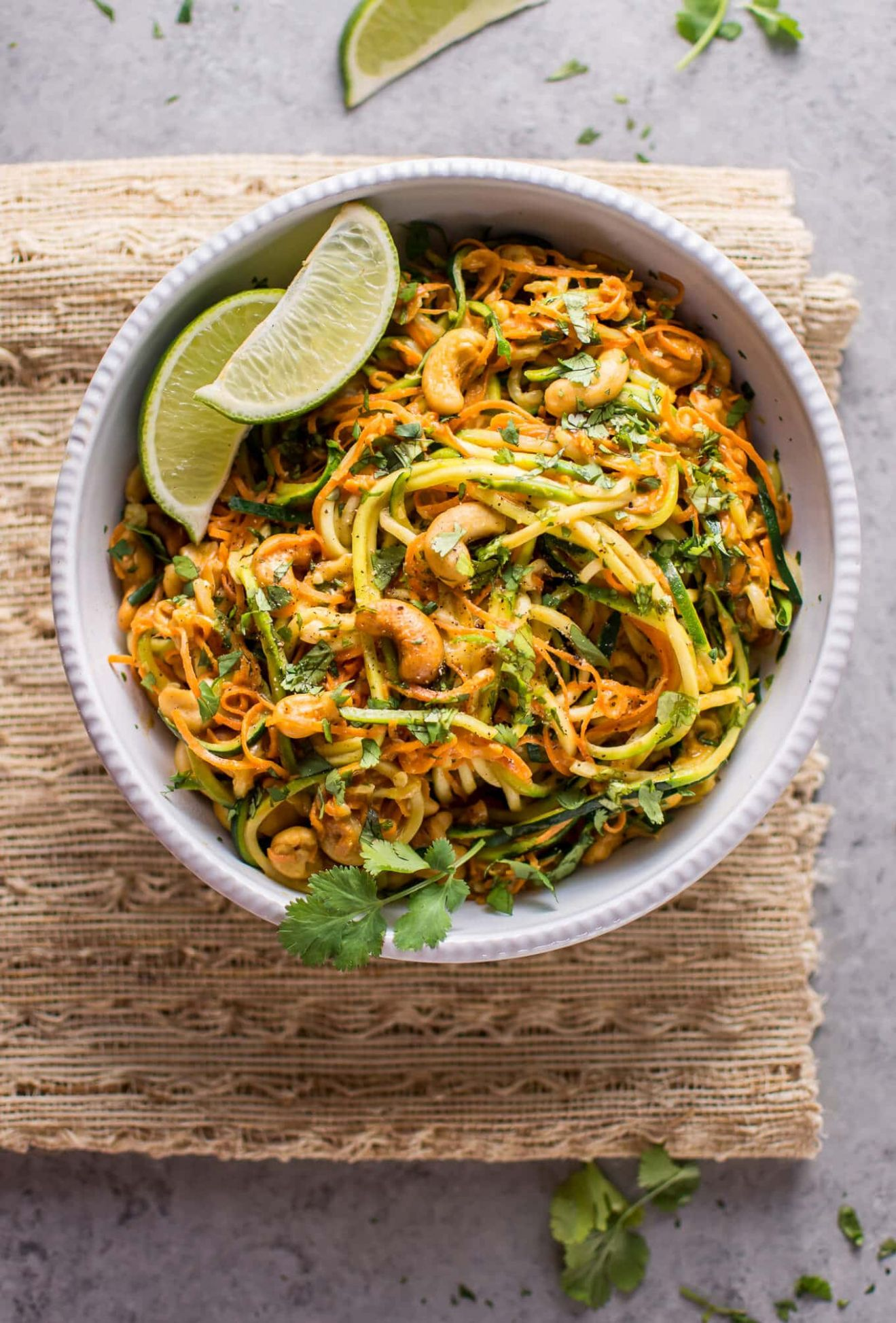 10 Minute Garlic Lime Cashew Zoodles - Healthy Recipes Zoodles