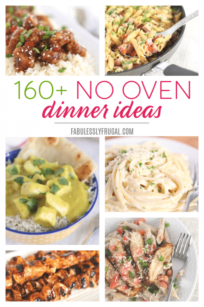 10+ No-Oven Dinner Recipes and Ideas - Fabulessly Frugal - Food Recipes No Oven