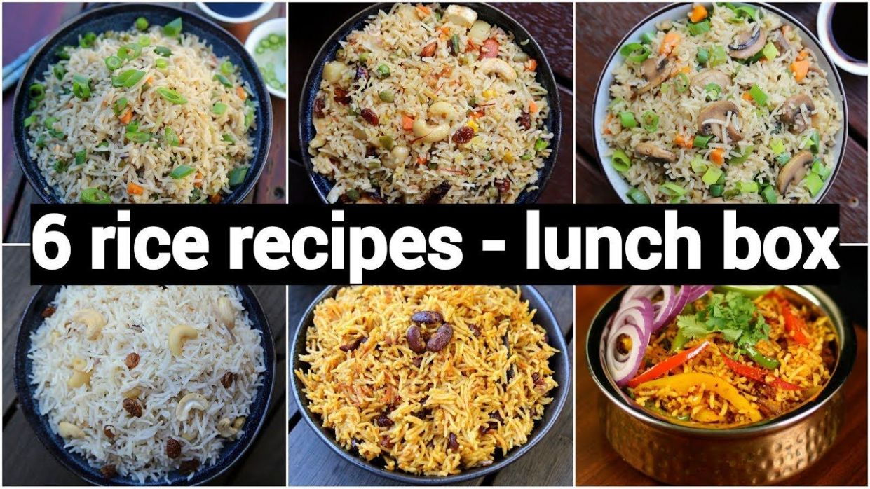 10 rice or pulao recipes for lunch box | 10 आसान झटपट ..
