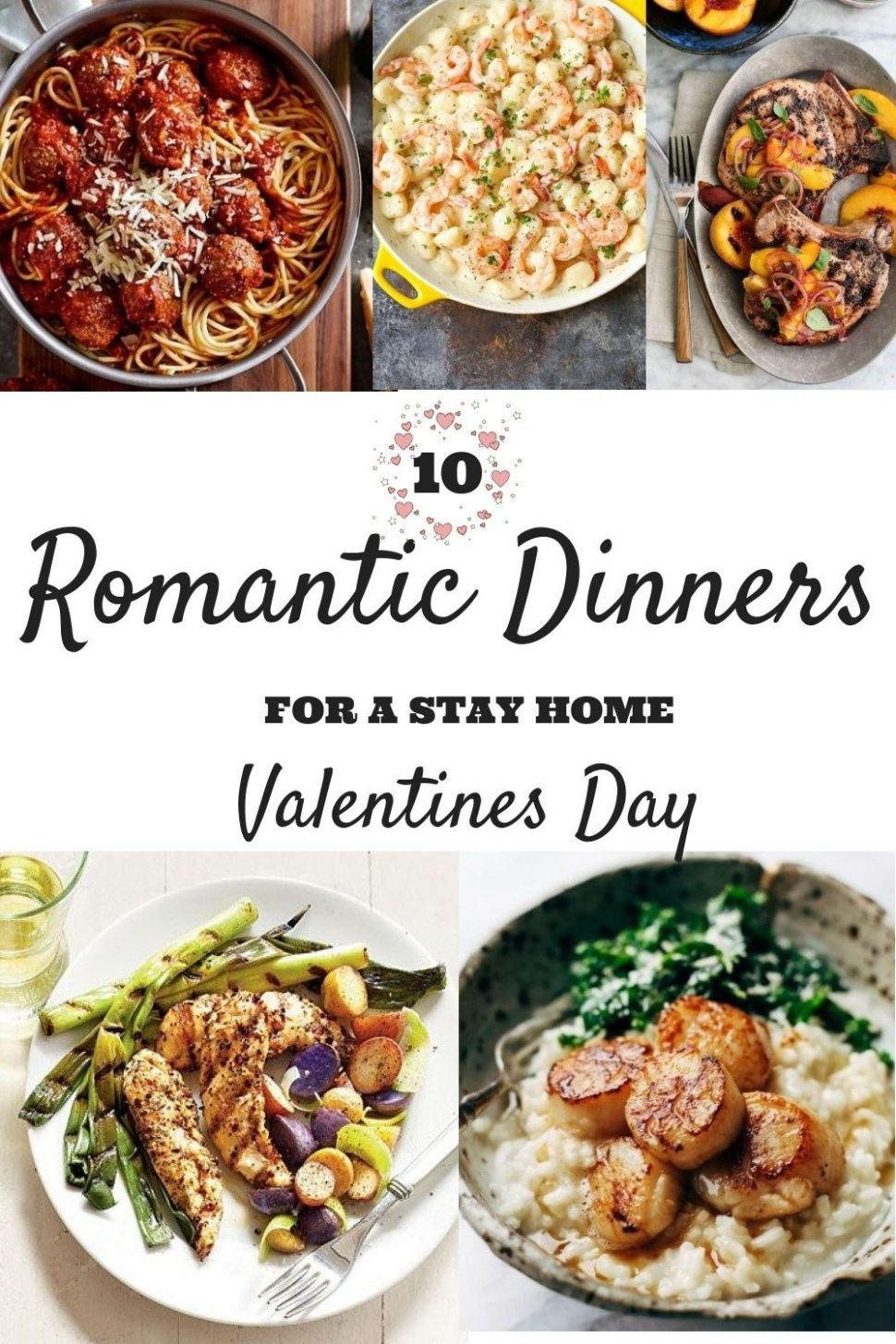 10 Romantic Dinners For A Stay Home Valentine's Day | Night dinner ...