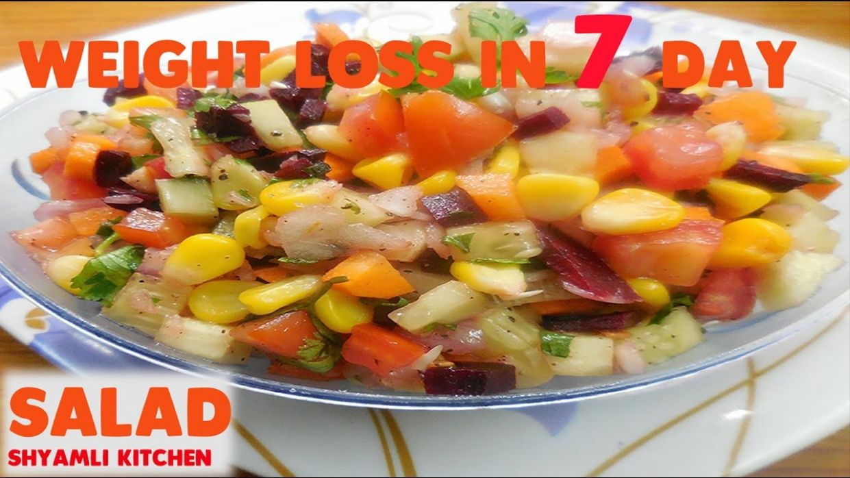 अब सिर्फ 10 दिनों में वजन घटाए |WEIGHT LOSS healthy SALAD recipe | Easy  Indian Salad Recipe in Hindi - Salad Recipes Indian For Weight Loss