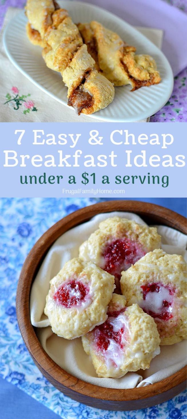 100 Easy and Cheap Breakfast Ideas for under $10 | Breakfast on a ...