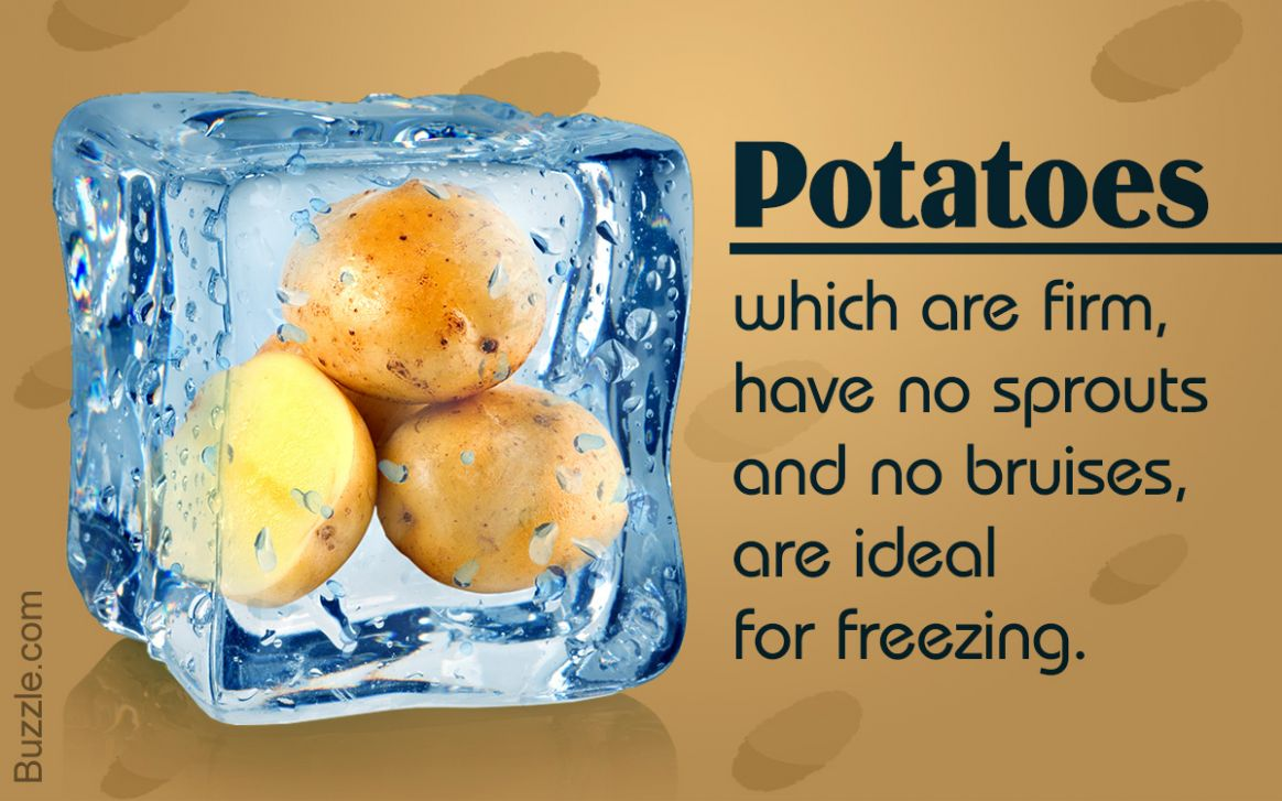 11 Best Ways Used By Culinary Experts to Freeze Potatoes - Tastessence - Potato Recipes You Can Freeze