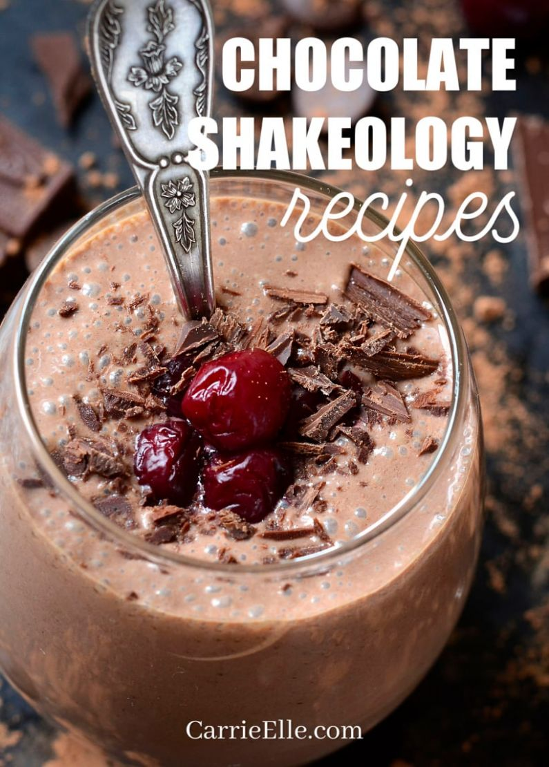 11 Chocolate Shakeology Recipes - Carrie Elle - Recipes Chocolate Shakeology