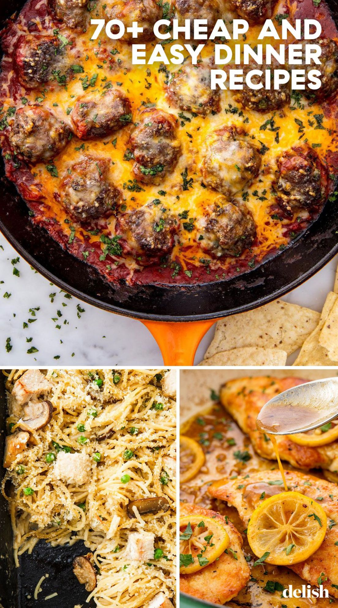 11+ Easy Cheap Dinner Recipes - Inexpensive Dinner Ideas - Delish Recipes Cooking Quick Dinners