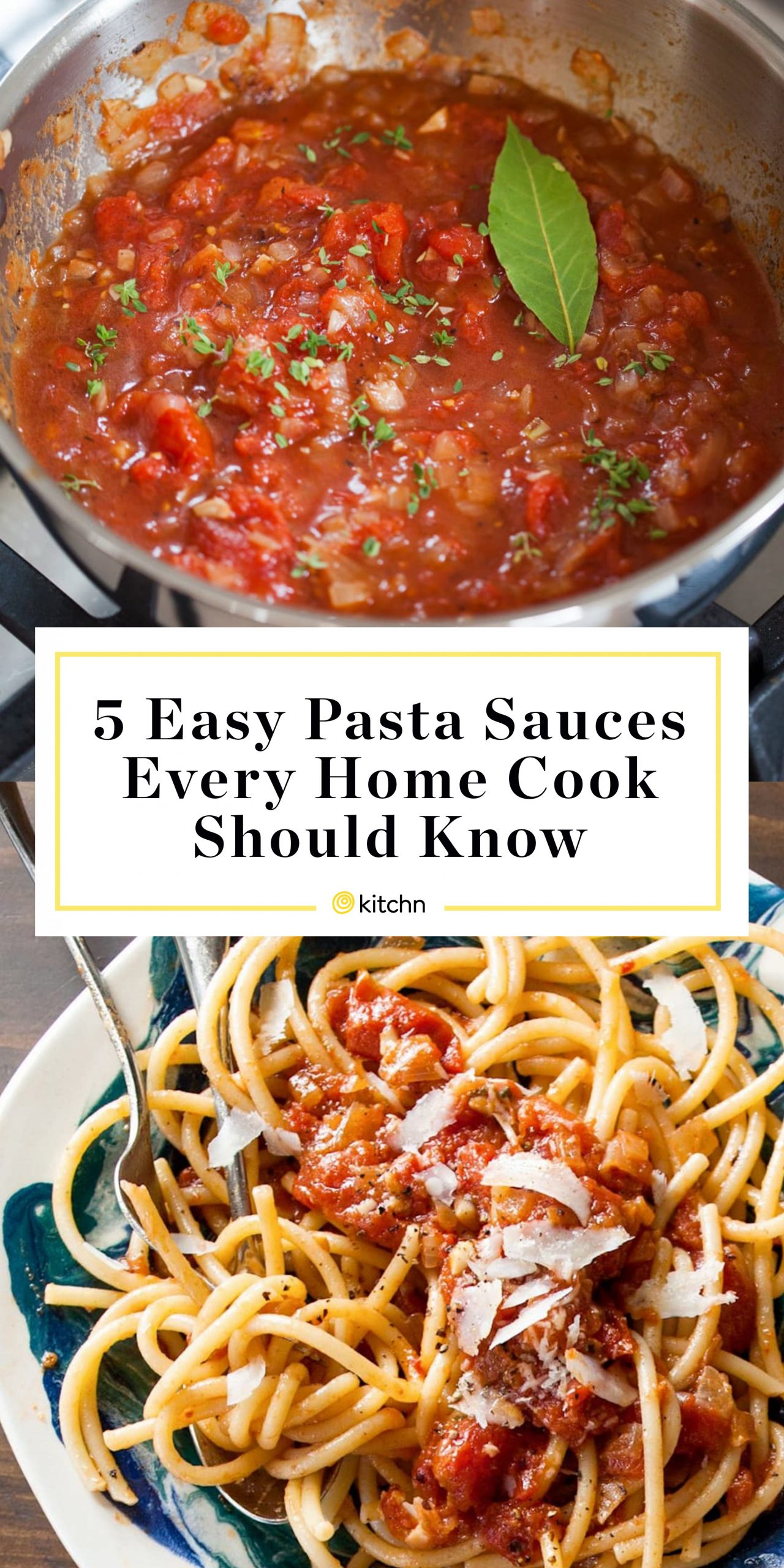 11 Easy Pasta Sauces Every Home Cook Should Know | Kitchn - Recipes Pasta Sauce