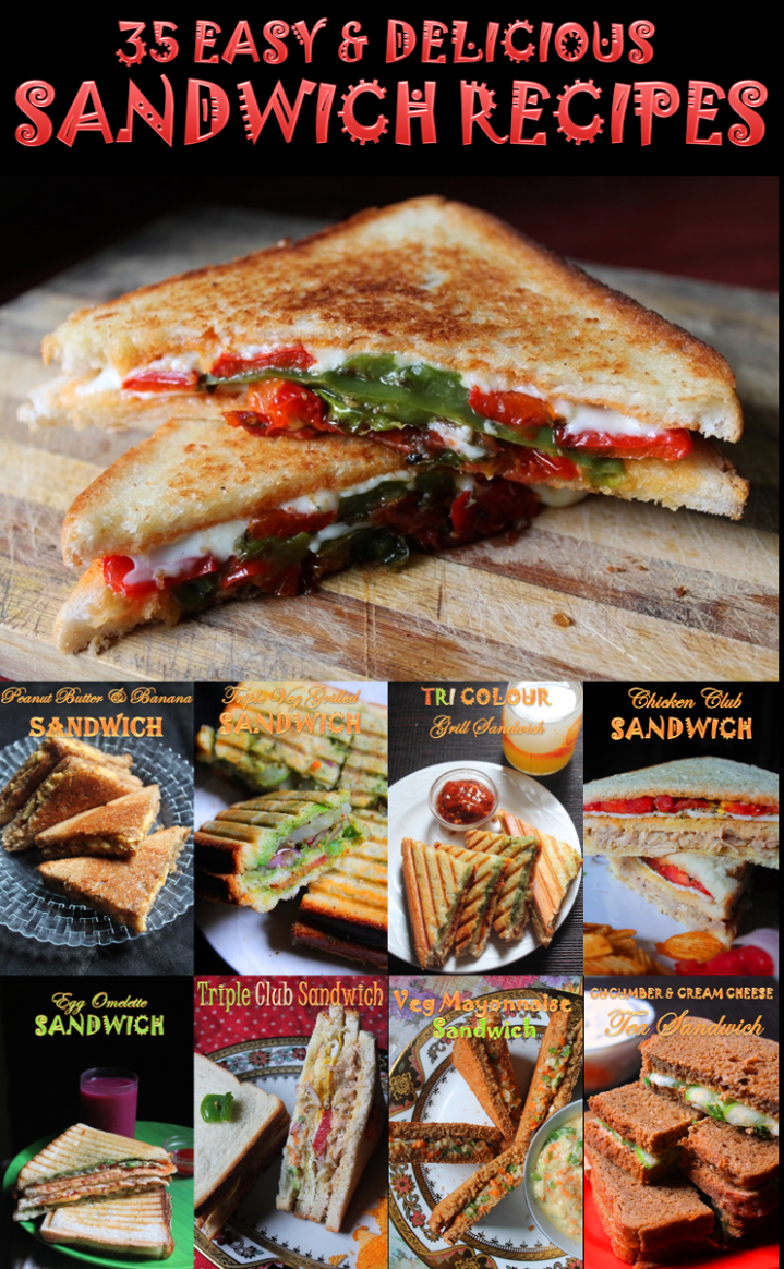 11 Easy Sandwich Recipes - Veg & Non Veg Sandwich Recipes - Best ...
