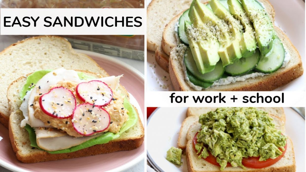 11 EASY SANDWICH RECIPES | work + school lunch ideas