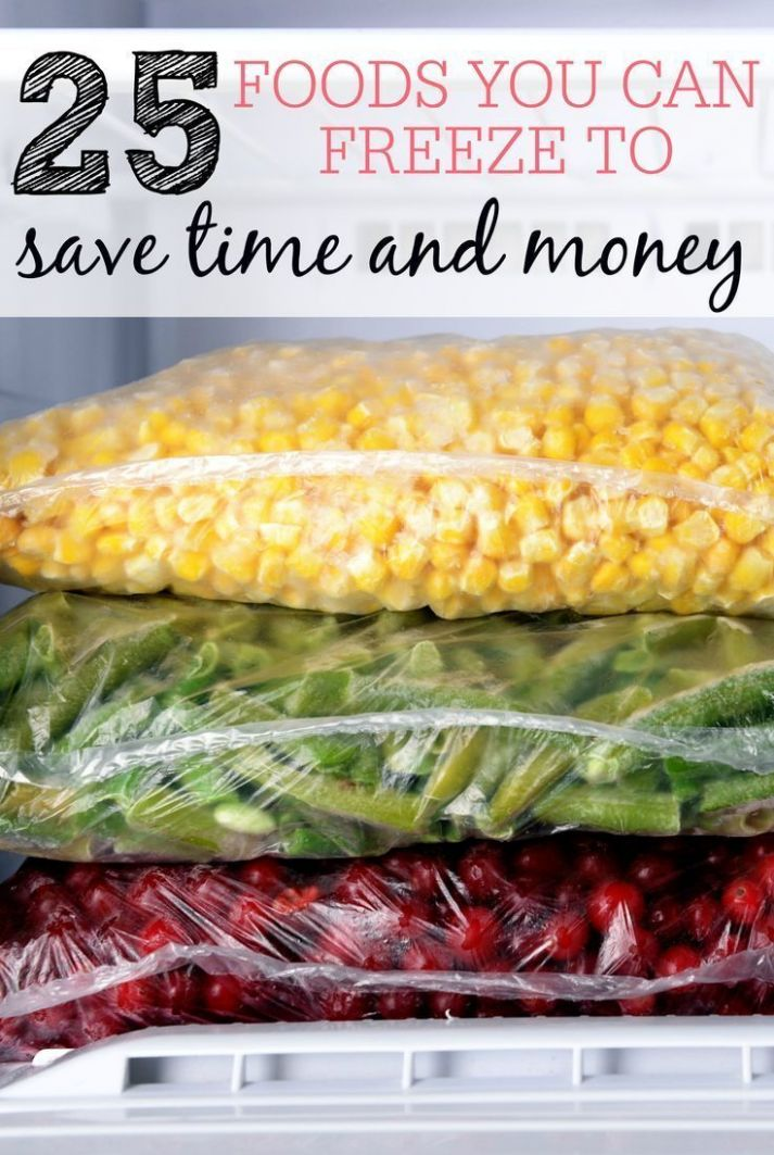 11 Foods You Can Freeze To Save Time and Money | Frozen meals ...