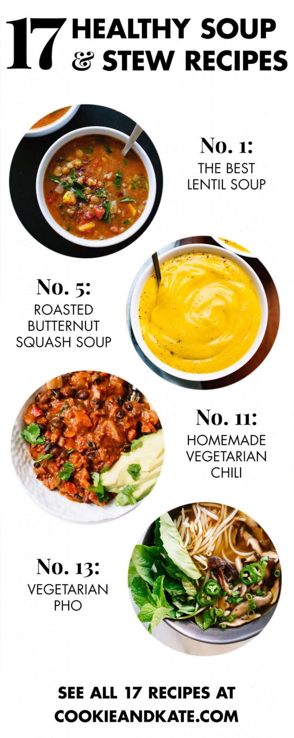 11 Healthy Vegetarian Soup Recipes - Cookie and Kate