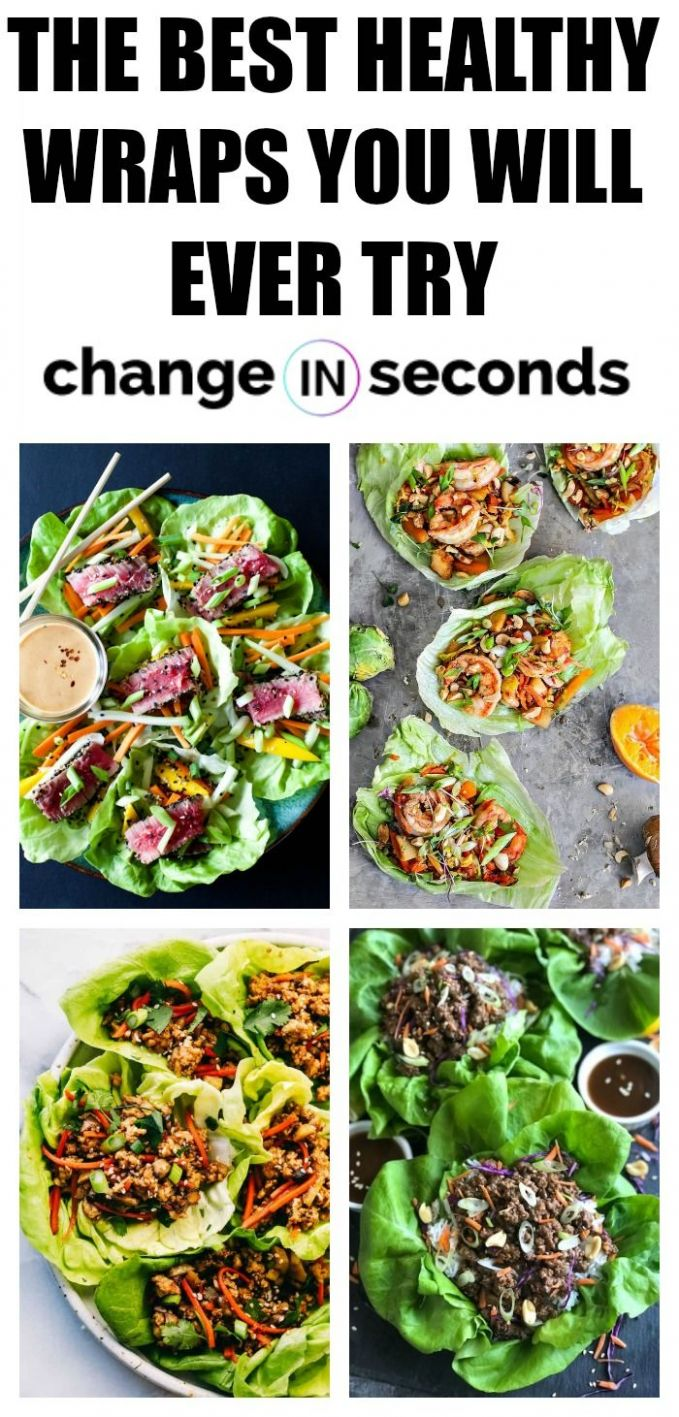 11 Healthy Wraps For Lunch That Are Easy To Make | Healthy, Clean ...
