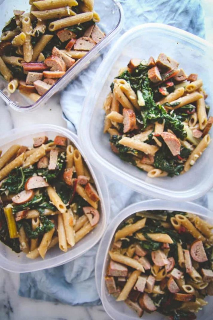 11 Ingredient Healthy Pasta for Meal Prep Lunches