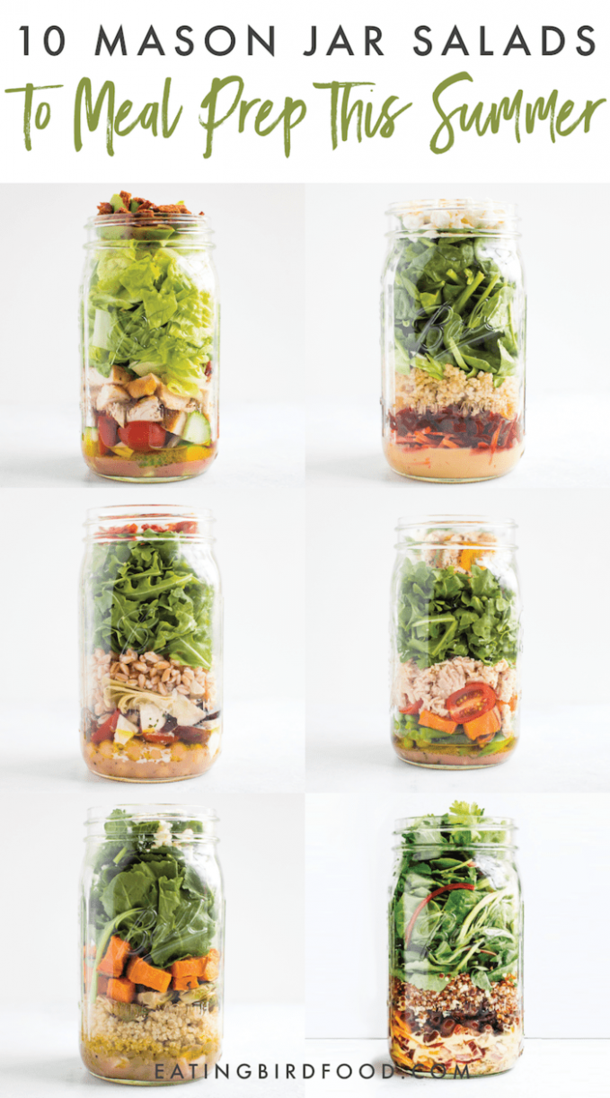 11 Mason Jar Salads to Meal Prep This Summer | Eating Bird Food - Recipes Salad In A Jar