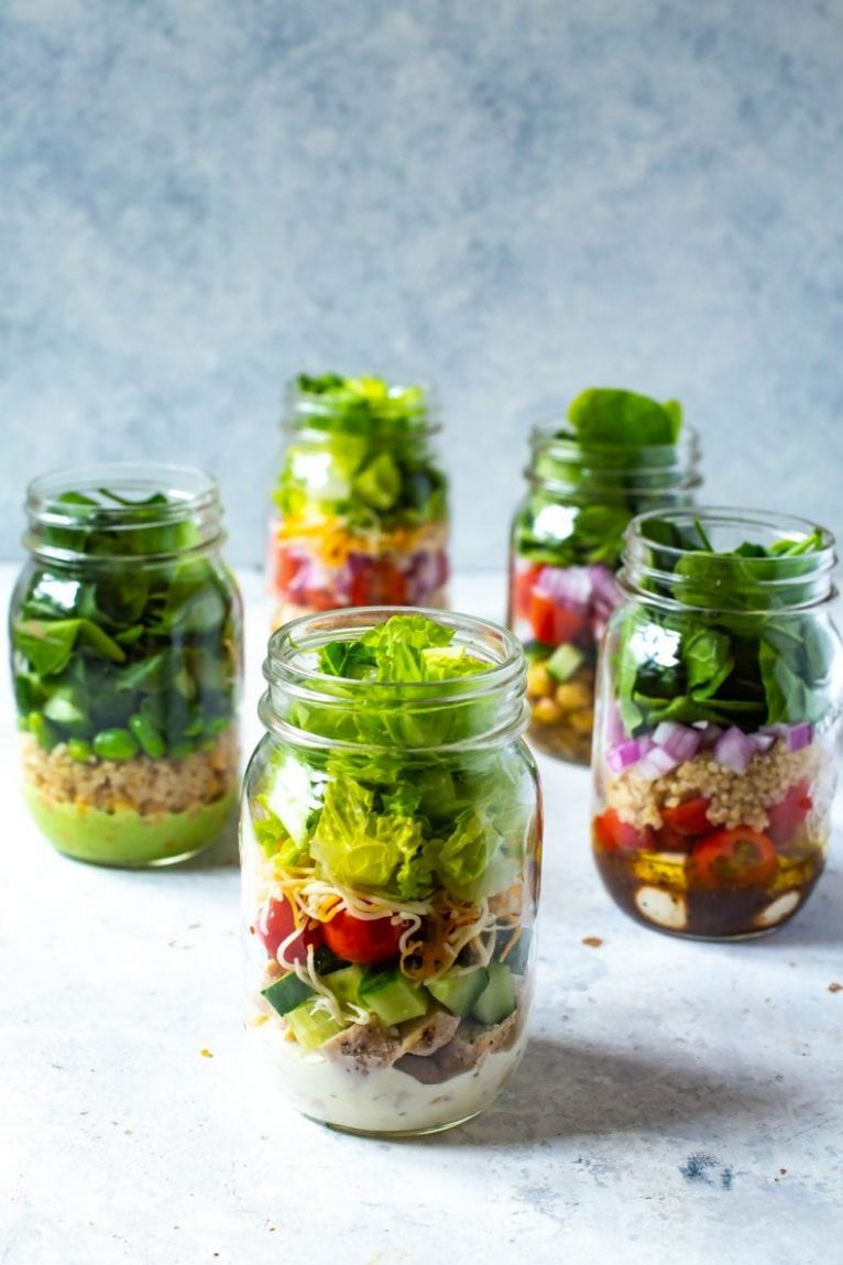 11 Mix and Match Mason Jar Salad Recipes for Easy Lunches! - Recipes Salad In A Jar