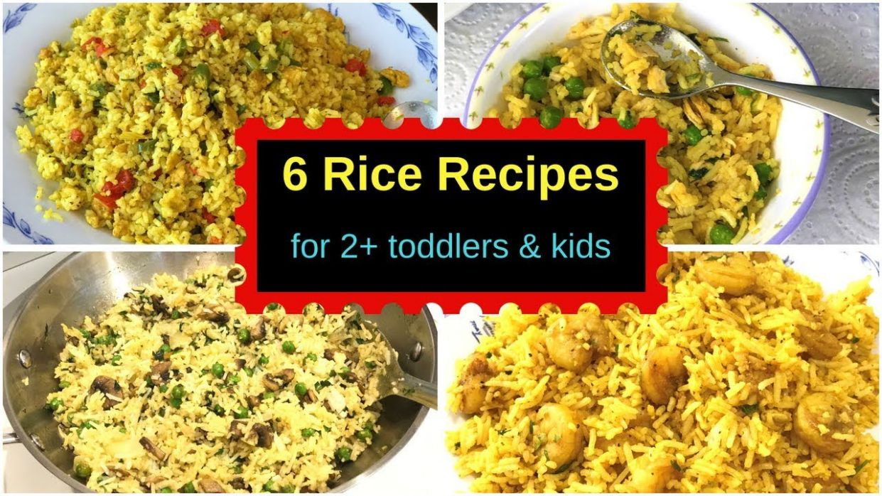11 Rice Recipes - Lunch or Dinner ( for 11+ toddlers & kids ) - Indian  Toddler & Kids rice recipes - Rice Recipes Kid Friendly