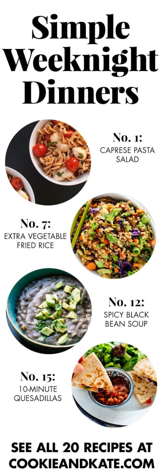 11 Simple Vegetarian Dinner Recipes - Cookie and Kate - Vegetable Recipes Quick And Easy