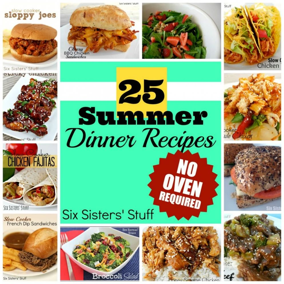 11 Summer Dinner Recipes- No Oven Required! | Six Sisters' Stuff