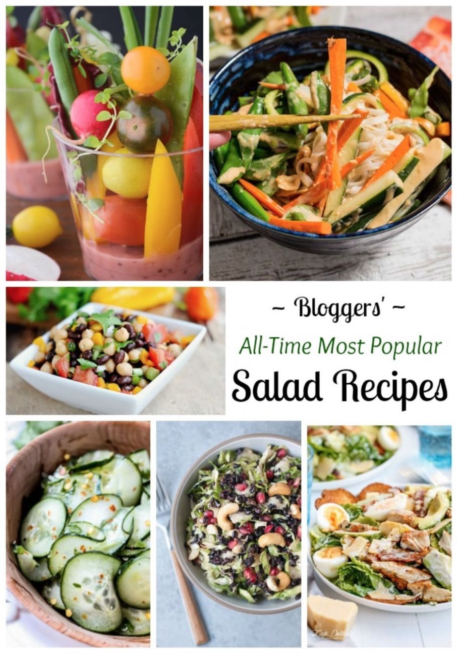 12 All-Time Best Healthy Salad Recipes - Two Healthy Kitchens