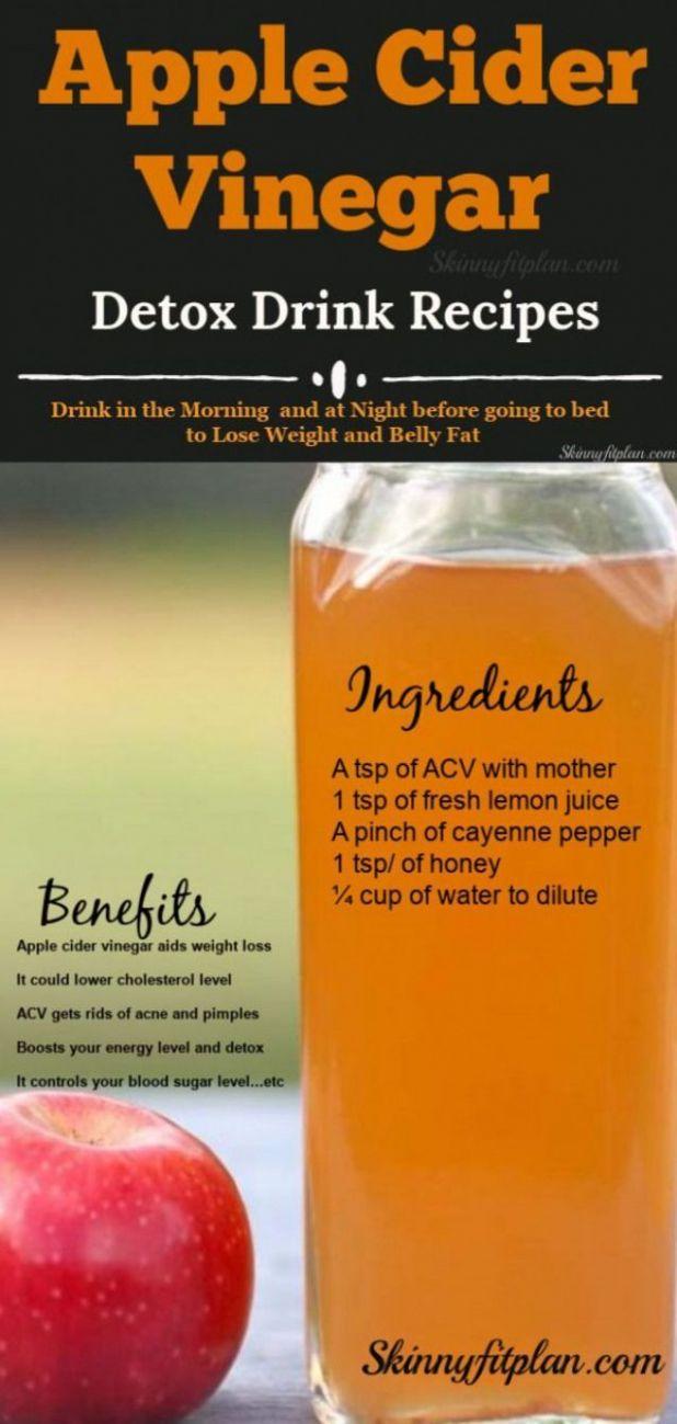 12 Apple Cider Vinegar Detox Drink Recipes for Weight Loss ...