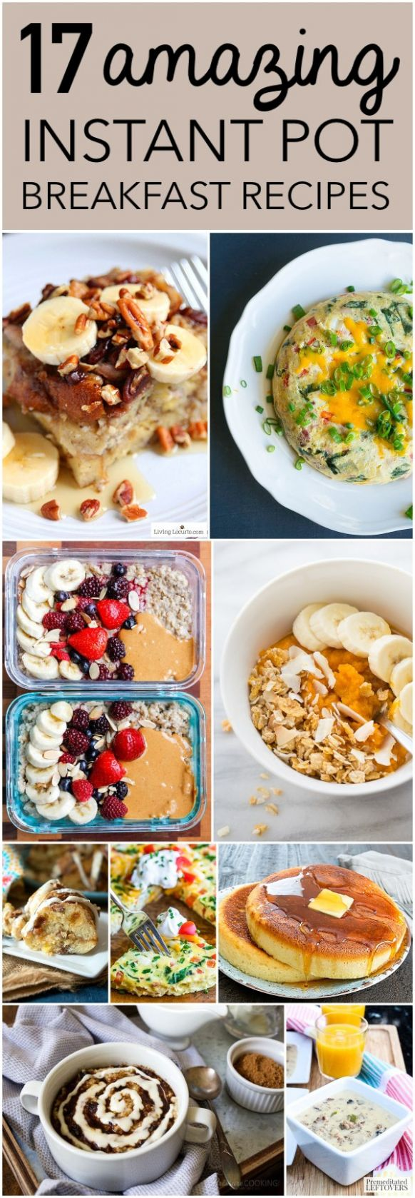 12 Awesome Breakfasts to Make in Your Instant Pot - Six Clever Sisters - Breakfast Recipes Healthy Easy