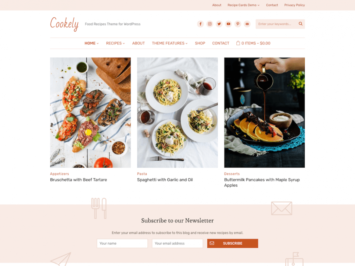 12+ Best Food WordPress Themes for Sharing Recipes 12 - aThemes - Simple Recipes Blog