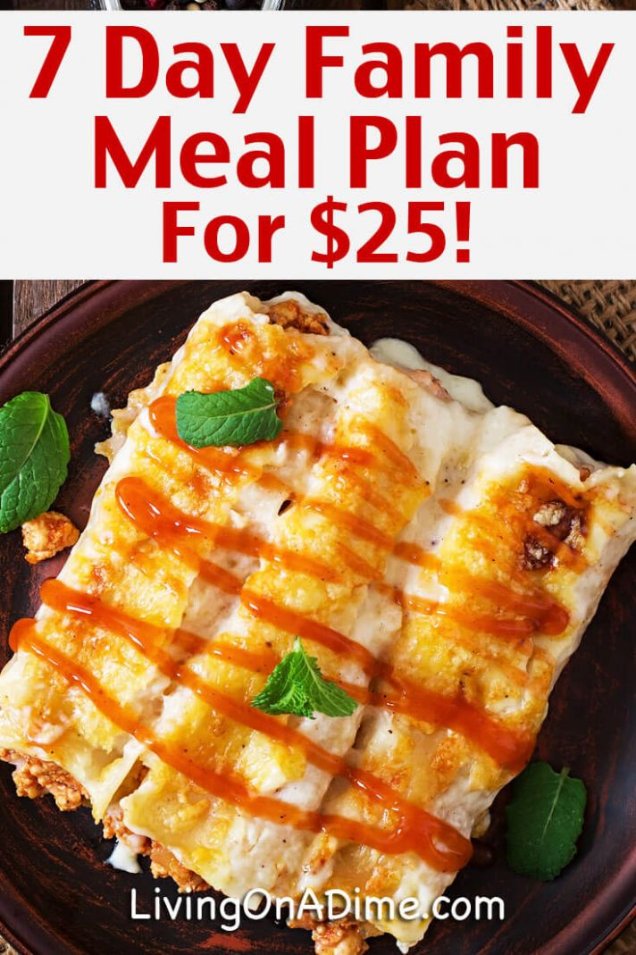 12 Day Meal Plan for $12: Cheap And Easy Family Meals
