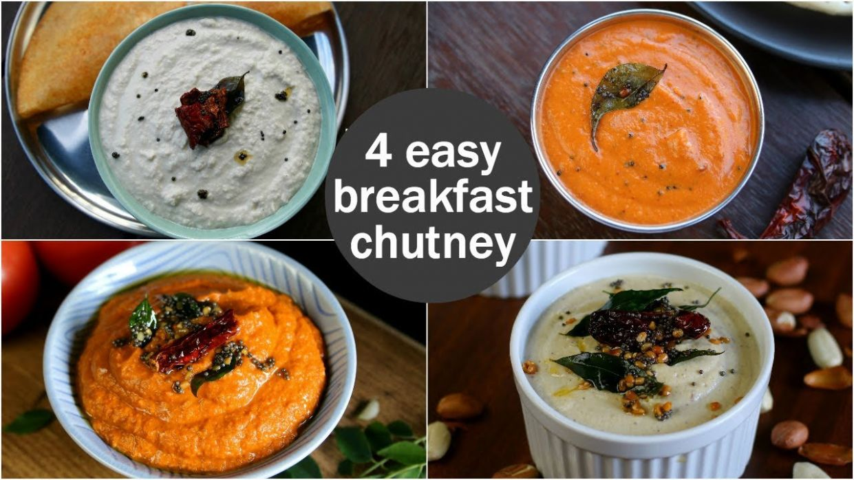 12 easy & quick chutney recipes for idli & dosa | south indian breakfast  chutney recipes